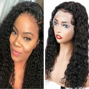 Eva Hair 150 Density Brazilian Curly 370 Fake Scalp Wig Bleahced Knots Human Hair Wigs With Baby Hair【W212】