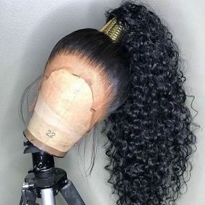 Eva Hair Glueless Sexy Deep Curly Pre Plucked Brazilian Remy Hair Bleached Knots 13x6  Lace Frontal Wig With Baby Hair Bleached Knots【W313】
