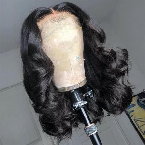 Where's The Lace!! Swiss Transparent Rihanna Style Lace Frontal Loose Wave Wig 【W378】