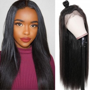 Eva Hair 130 Density 13X4 Straight Lace Front Wigs Pre Plucked Brazilian Human Hair Lace Wig【031】