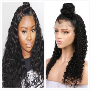 Eva Hair Pre Plucked 180% Density Brazilian Remy Hair Bleached Knots Curly Hair 360 Lace frontal Human Hair Wigs With Baby Hair 【Y043】