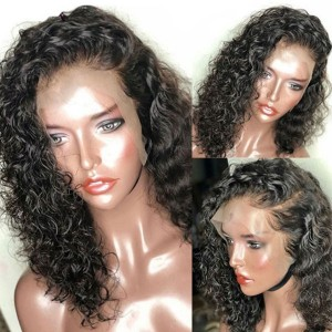 Eva Hair 150% Density Curly Bob 13x6 Lace Front Human Hair Wig Pre Plucked With Baby Hair【Y150】