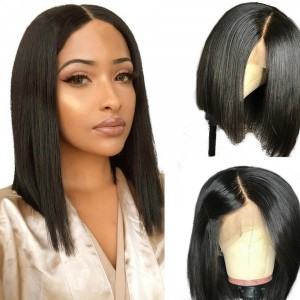 Eva Hair Pre Plucked 150 Density Short Full Lace Human Hair Bob Wigs Brazilian Straight Hair With Baby Hair Bleached Knots 【W073】