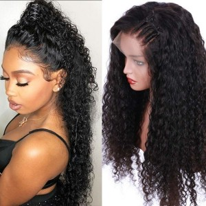 Eva Hair 150% Density Pre Plucked Brazilian Remy Hair Bleached Knots Curly Full Lace Human Hair Wig for Women With Baby Hair 【Y042】