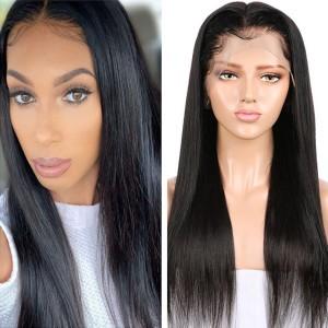 Eva Hair 180% Density Straight Brazilian Hair 360 Lace Frontal Human Hair Wigs (Y53)