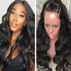 Eva Hair 180% Density Body Wave Brazilian Hair 360 Lace Frontal Human Hair Wigs (Y58)